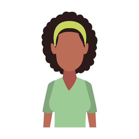 Afro faceless woman vector illustration graphic design