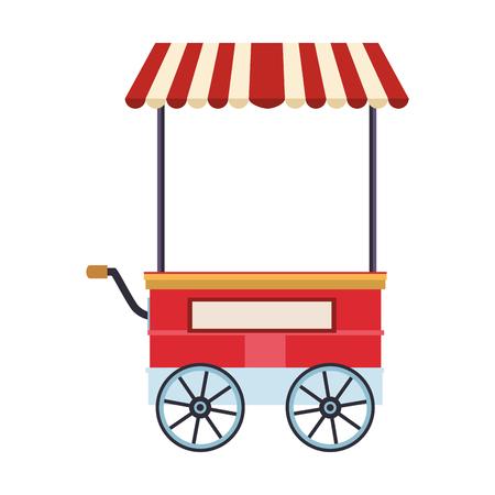 Grafikdesign der Vektorillustration des Lebensmittelstandwagens