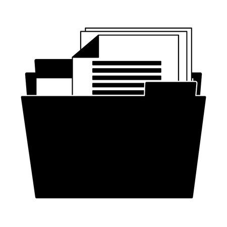 Folder with documents vector illustration graphic design Illustration