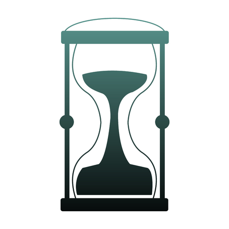 Hourglass antique symbol vector illustration graphic design