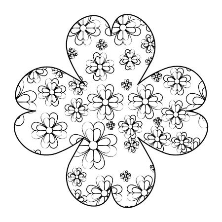 Clover leaves inside clover frame vector illustration graphic design