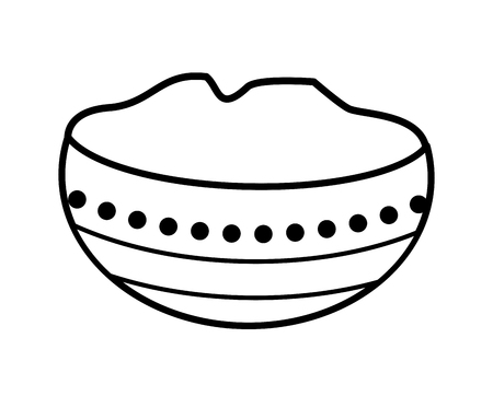 Ugadi indian jar vector illustration graphic design