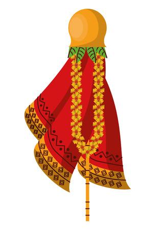 Ugadi indian symbol vector illustration graphic design