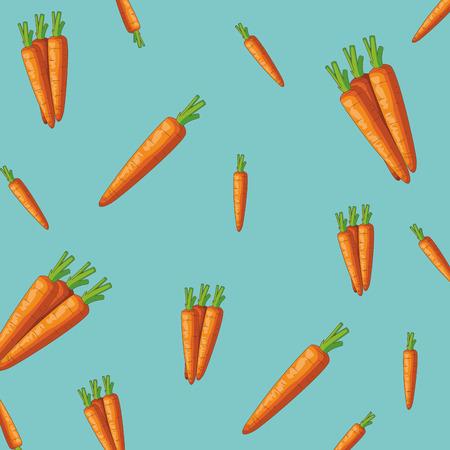 Carrots vegetables pattern background vector illustration graphic design