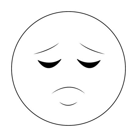 Sad chat emoticon isolated vector illustration graphic design Illustration