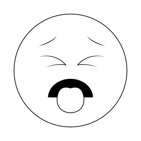 Walging chat emoticon geïsoleerd vector illustratie grafisch ontwerp