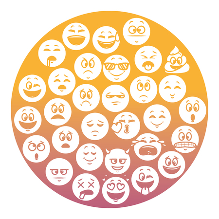 Emoticons pattern background concept vector illustration graphic design Illustration