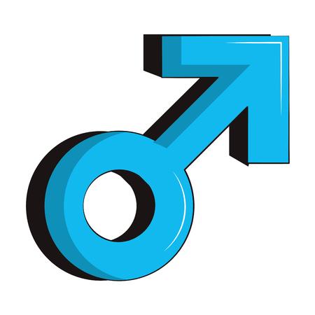 Male gender symbol Illustration