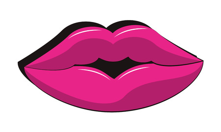 90s lips retro cartoons