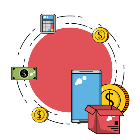 Business investment and technology elements vector illustration graphic design
