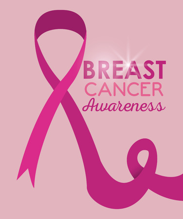 Breast cancer awareness campaign pink poster vector illustration graphic design
