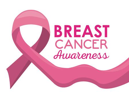 Breast cancer awareness campaign pink poster vector illustration graphic design Vector Illustration