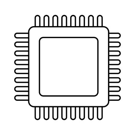 Microchip technology symbol vector illustration graphic design