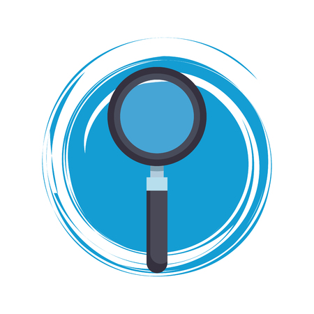 Magnifying glass symbol round vector illustration graphic design 向量圖像