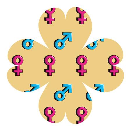 Gender symbols vector illustration graphic design Illustration