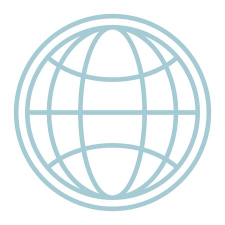Global sphere symbol vector illustration graphic design