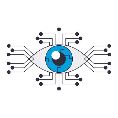Bionic eye technology vector illustration graphic design Illustration
