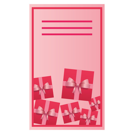 Woman day pink card with blank note space vector illustration graphic design