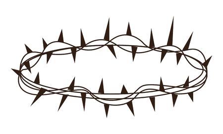 Jesuschrist thorns crown vector illustration graphic design