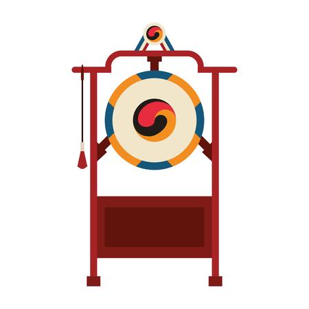 Asian gong instrument vector illustration graphic design