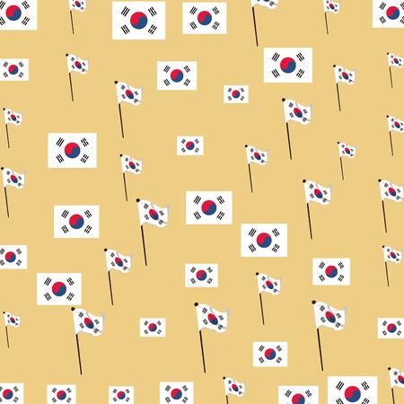 Korea flag background pattern vector illustration graphic design