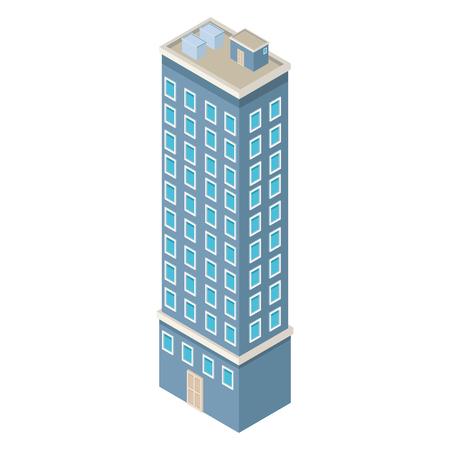 Grafikdesign des Firmengebäudes isometrische Vektorillustration