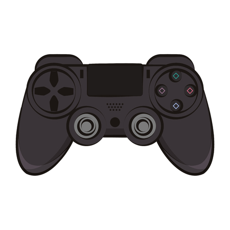 Modern console gamepad colorful vector illustration graphic design