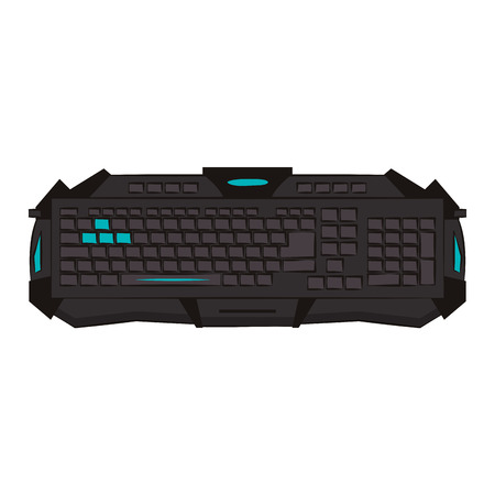 Gamer keyboard device colorful vector illustration graphic design Illustration