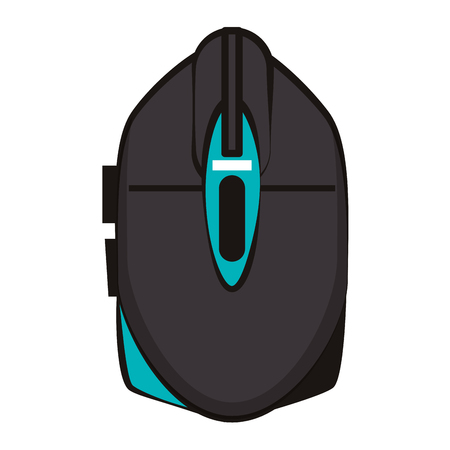 Gamer mouse device colorful vector illustration graphic design Illustration