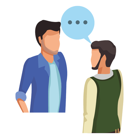 People talking with speech bubbles avatar vector illustration graphic design vector illustration graphic design