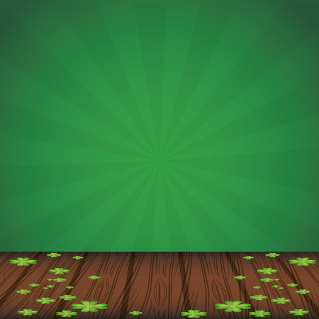 Saint patrick wooden stage background vector illustration graphic design