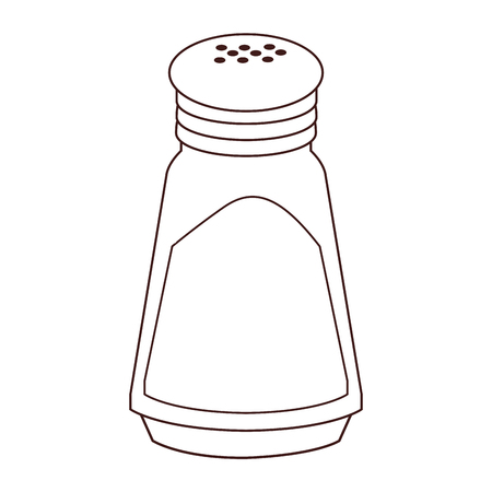 Salt shaker isolated in black and white vector illustration graphic design Illustration