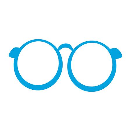 Glasses round frame vector illustration graphic design