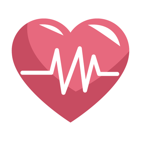 Medical heartbeat symbol vector illustration graphic design 向量圖像