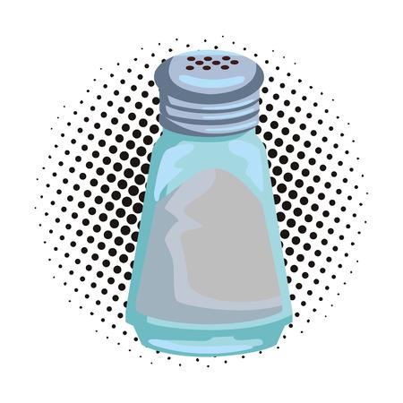 Zoutvaatje geïsoleerd popart popart vector illustratie grafisch ontwerp