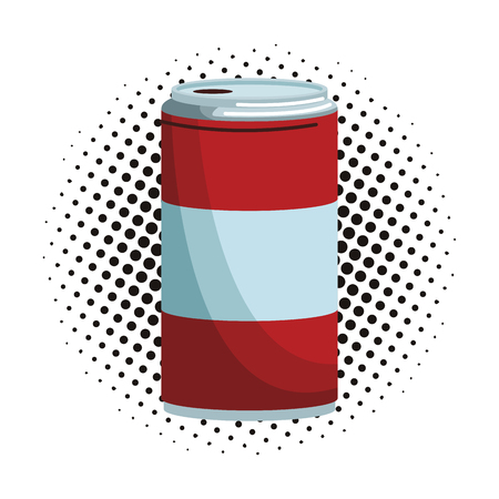 Soda can isolated pop art pop art vector illustration graphic design