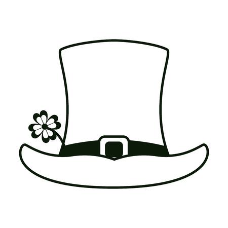 d76995094f1 Irish elf hat black white colors vector illustration graphic design