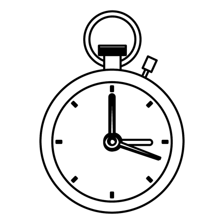 Timer vintage clock in black and white vector illustration graphic design Vectores