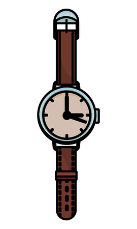 Vintage wristwatch isolated vector illustration graphic design