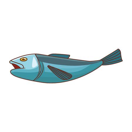 Progettazione grafica dell'illustrazione di vettore isolata frutti di mare del pesce