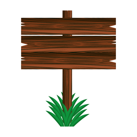 Blank wooden sign vector illustration graphic design