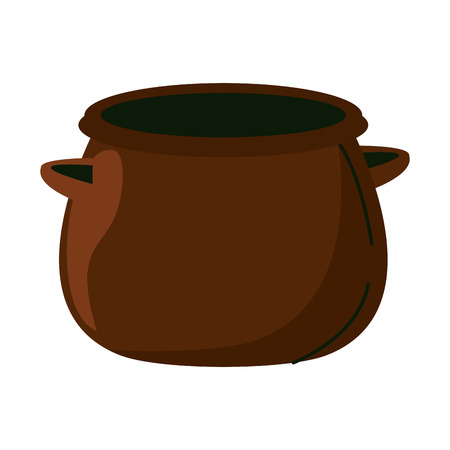 Empty pot isolated vector illustration graphic design