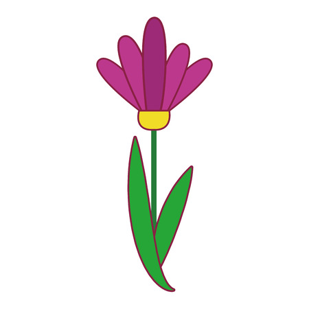 Flower cartoon isolated vector illustration graphic design