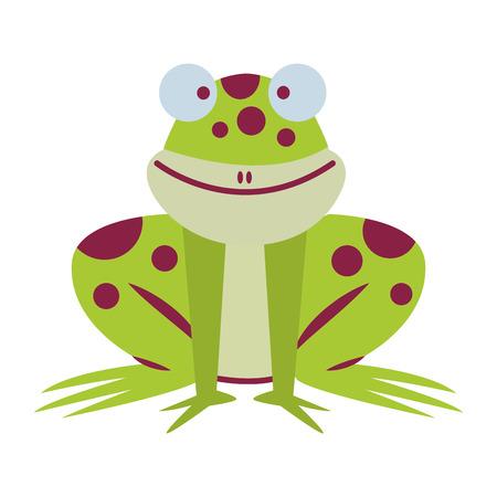 frog cute cartoon vector illustration graphic design vector illustration graphic design
