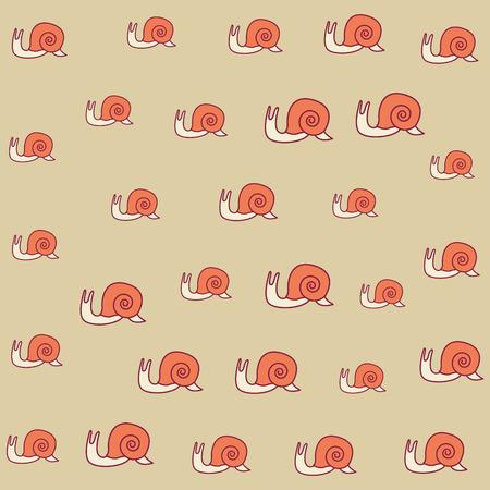 slug cute cartoon pattern background vector illustration graphic design Ilustracje wektorowe
