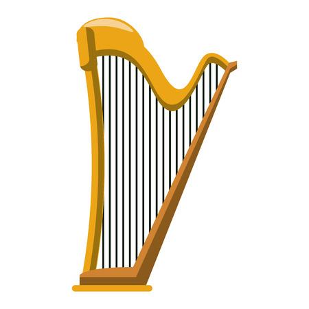 Harp instrument cartoon vector illustration graphic design vector illustration graphic design