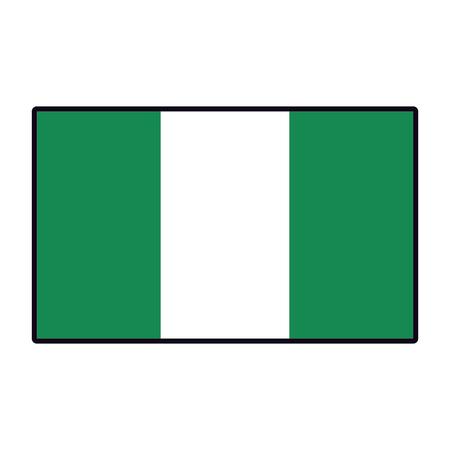Nigeria flag emblem vector illustration graphic design