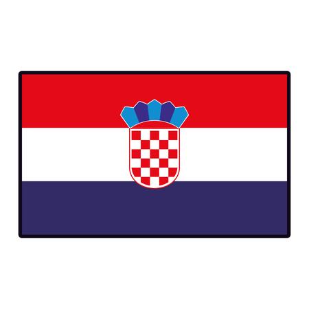 Crotatia flag emblem vector illustration graphic design