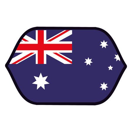 Australia flag emblem vector illustration graphic design