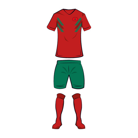 Morocco soccer team tshirt uniform vector illustration graphic design